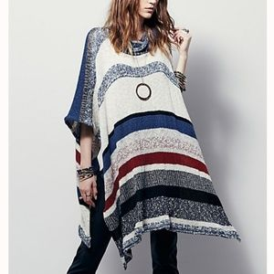Free People Dream Maker Melange Poncho